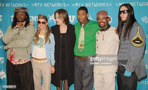Black Eyed Peas Usher and Judy McGrath MTV Networks Chairman and CEO
