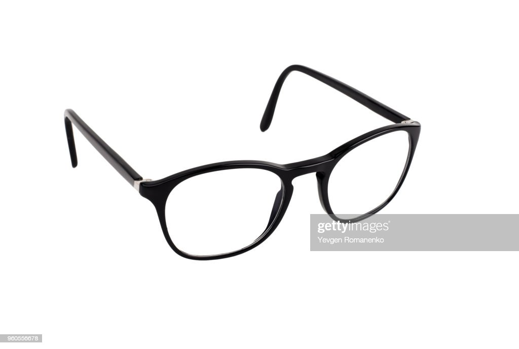 Black Eyeglasses Isolated On White Background Stock Photo