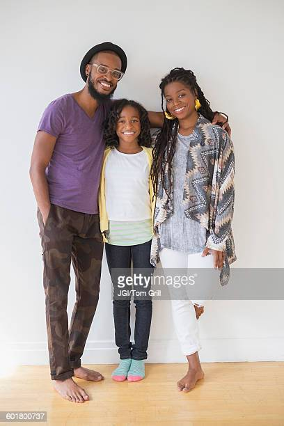 Black family smiling