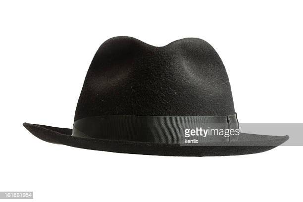 black felt hat - hat stock pictures, royalty-free photos & images