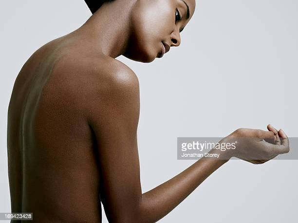 black females nude back with face in shot