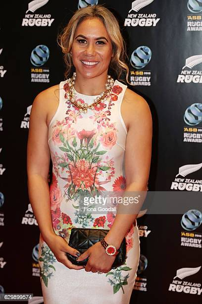 Black Fern Huriana Manuel attends the ASB Rugby Awards at SkyCity Convention Centre on December 15, 2016 in Auckland, New Zealand.