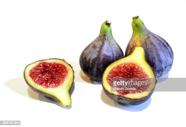 Black figs on white background