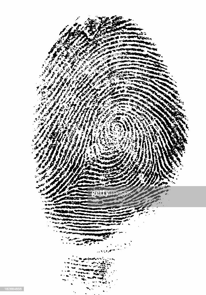 Black Fingerprint - Hi Res : Stock Photo