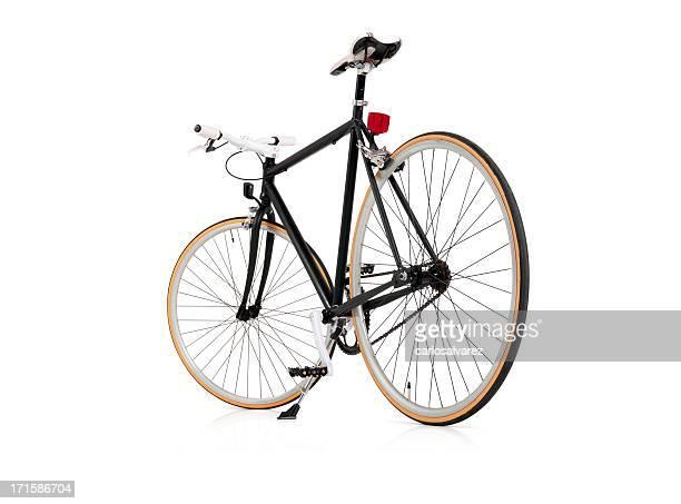 Vélo à pignon noir avec un Tracé de détourage