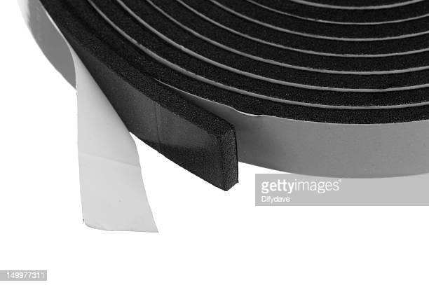 Black Foam Sealing Tape On White Background