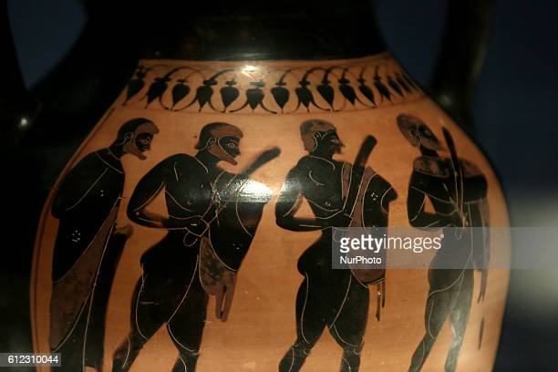 Black fogured amphora 530525 BC Opening of the exhibition quotOdysseysquot at the National Archaeological Museum of Greece in celebration of 150...