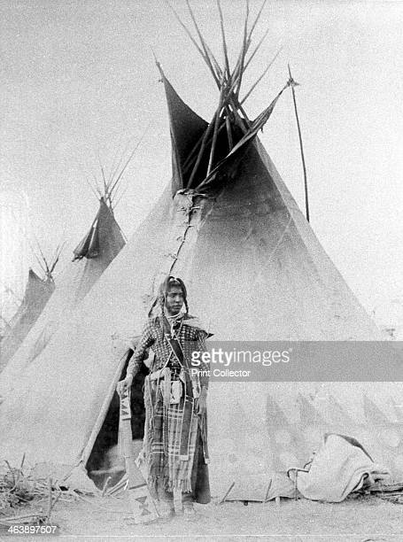 Black Foot outside his tent North American Indian c188590