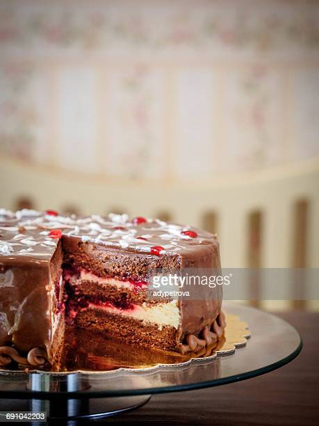 Black forest gateau cake