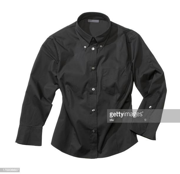Black formal female shirt