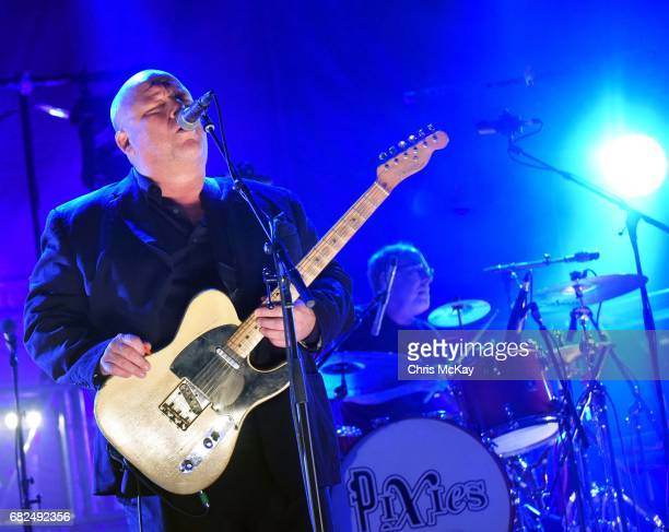 Black Francis and David Lovering of Pixies perform at Shaky Knees Music Festival at Centennial Olympic Park on May 12 2017 in Atlanta Georgia