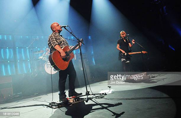 Black Francis and Kim Shattuck of The Pixies perform live on stage on Day 25 of iTunes Festival 2013 at The Roundhouse on September 25, 2013 in...