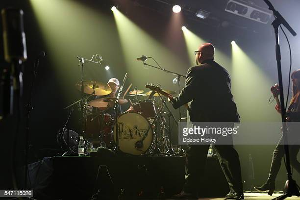 Black Francis David Lovering and Paz Lenchantin of The Pixies perform at The Marquee on July 13 2016 in Cork Ireland