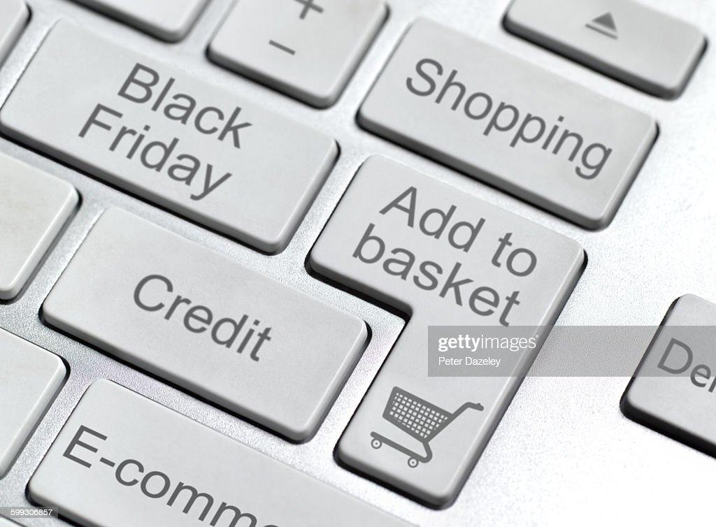 Black Friday keyboard button : Foto stock