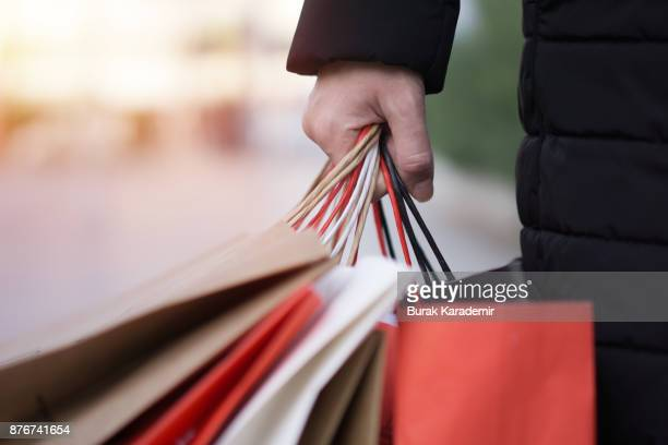 black friday - shopping bag stock pictures, royalty-free photos & images