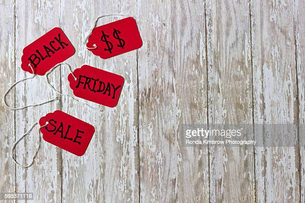 Black Friday Sales Tab on Wood Board