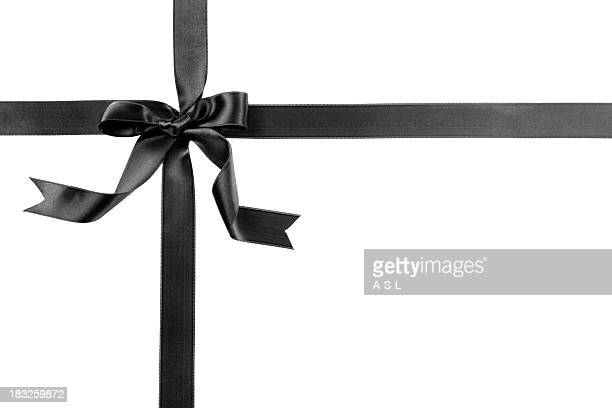 Black gift bow
