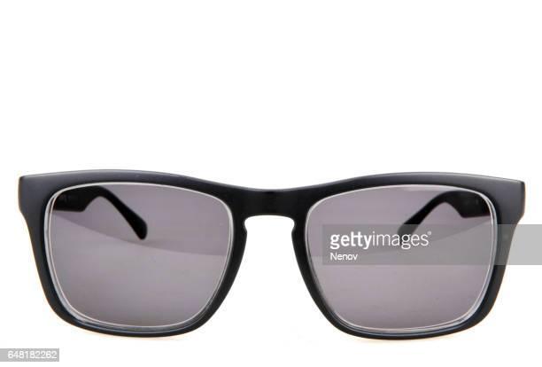 Black glasses isolated on white