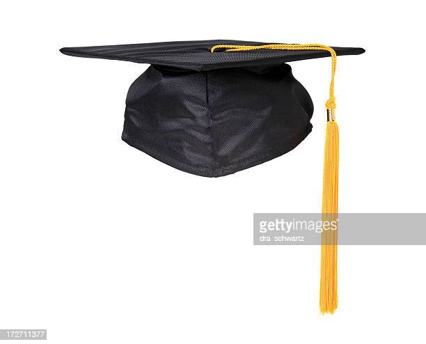 black graduation cap with yellow tassel - tassel stock pictures, royalty-free photos & images