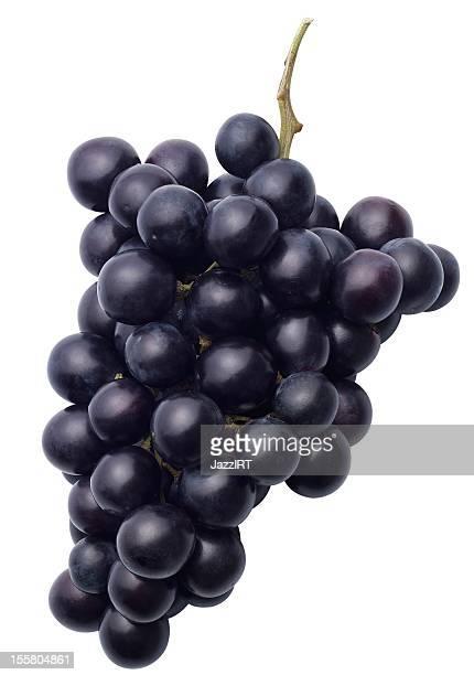 ブラックのブドウ(絶縁、クリッピングパスを白背景) - ぶどう ストックフォトと画像