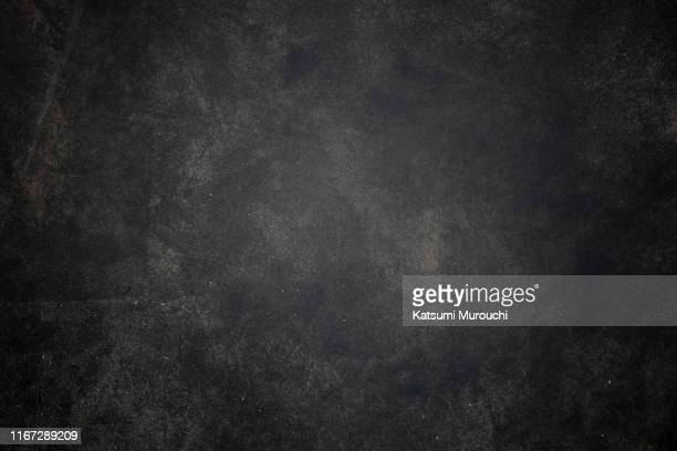 black grunge concrete wall texture background - 汚れた ストックフォトと画像