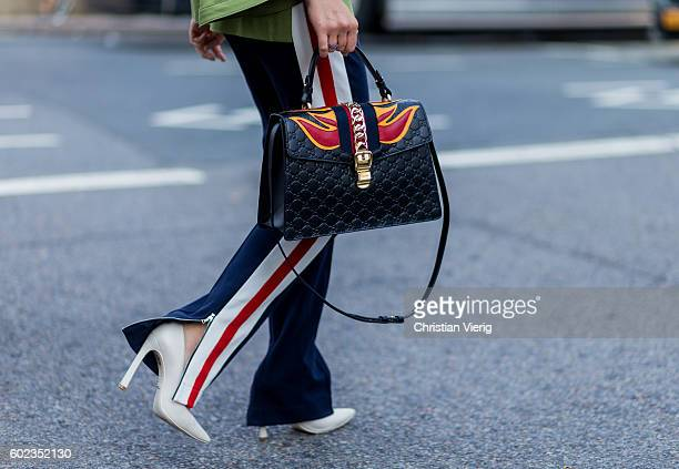A black Gucci bag outside Lacoste on September 10 2016 in New York City