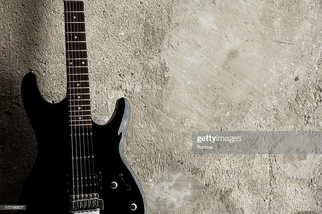 Black Guitar : Stock Photo