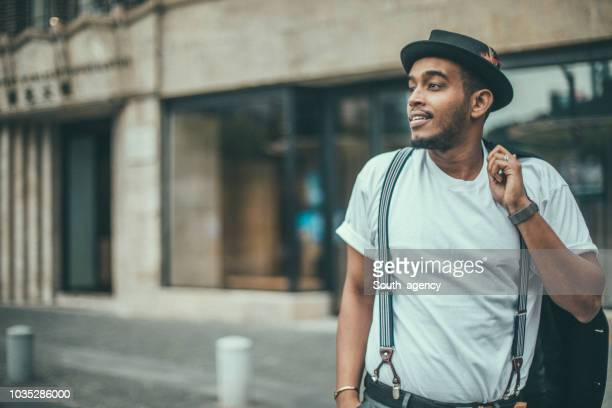 black guy on the street - smart casual stock pictures, royalty-free photos & images