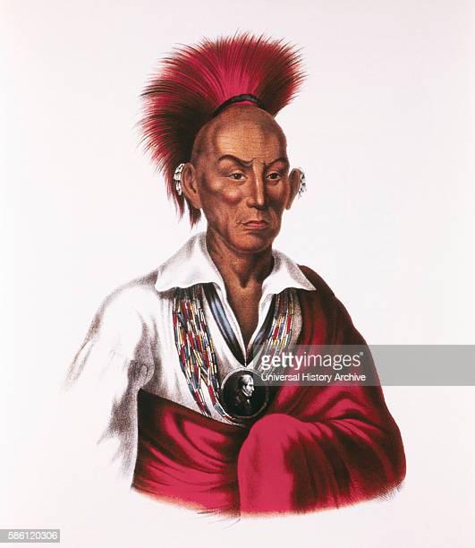 Black Hawk Makataimeshekiakiah Sauk and Fox Chief Leader of Black Hawk War 183132 Painting by Charles Bird King circa 1837