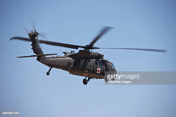UH-60 Black Hawk takes off after refueling in New Mexico.