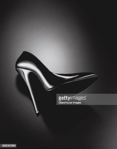 black high heel shoe - pump dress shoe stock pictures, royalty-free photos & images