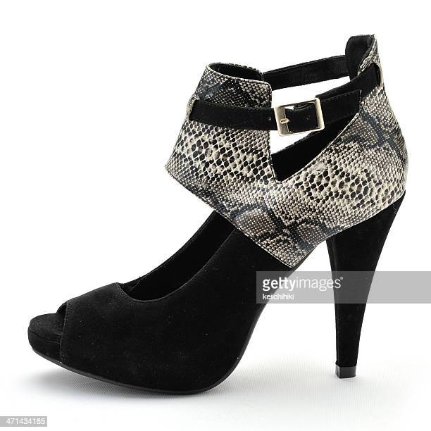 black high heels shoe - stiletto stock pictures, royalty-free photos & images