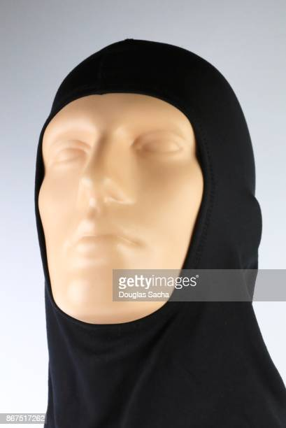 Black hijab head covering