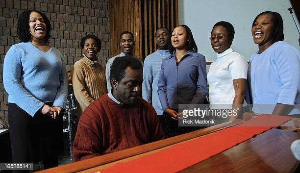 Black history - 1/12/04 - TORONTO, ONTARIO - Deliverance Ministries runs thru a song at Toronto West Seventh Day Adventist Church in Etobicoke. The...
