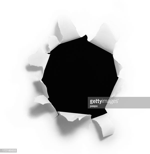 Black Hole Ripped Into a Piece of Paper