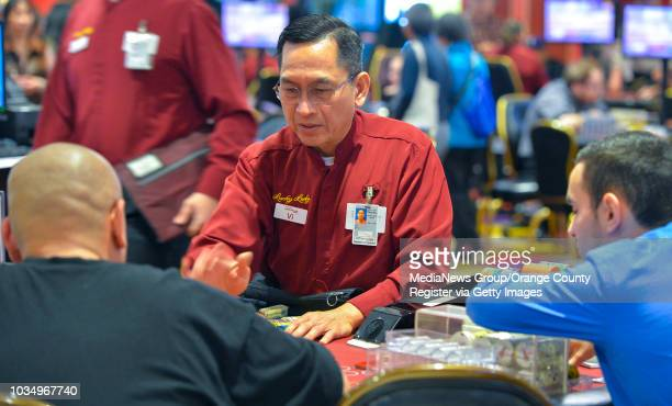 Black jack dealer Vi La works a table at Larry Flynt's Lucky Lady Casino in Gardena, CA on Thursday, March 16, 2017. The casino, formerly the...