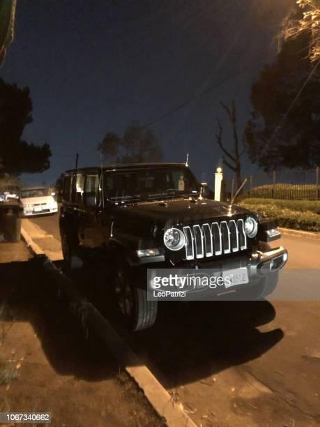 Black Jeep Wrangler in Los Angeles - USA