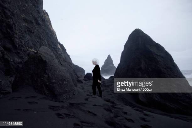 black lava - punalu'u_beach stock pictures, royalty-free photos & images