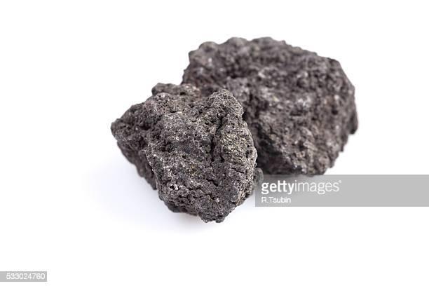 Black lava rock from volcano
