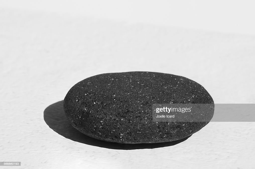 Black lava stone : Stock Photo