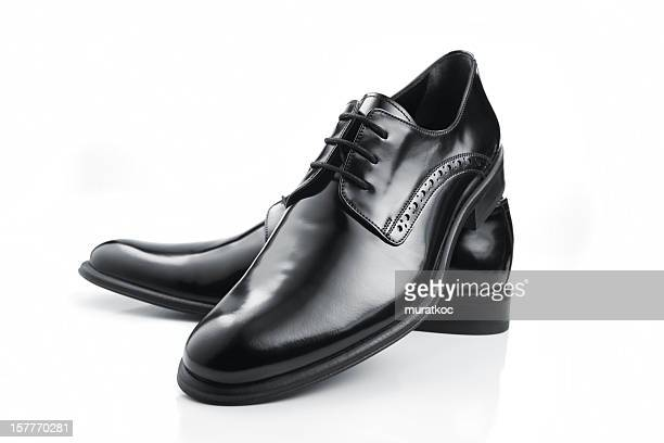 Black Leather Men Shoes