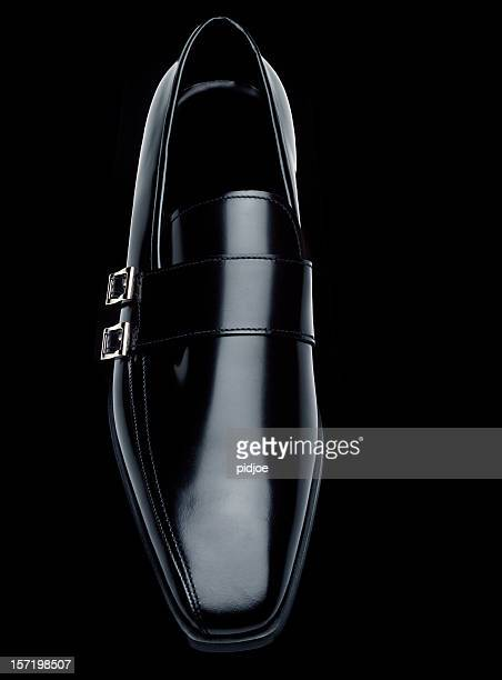 black leather Prada men's shoe