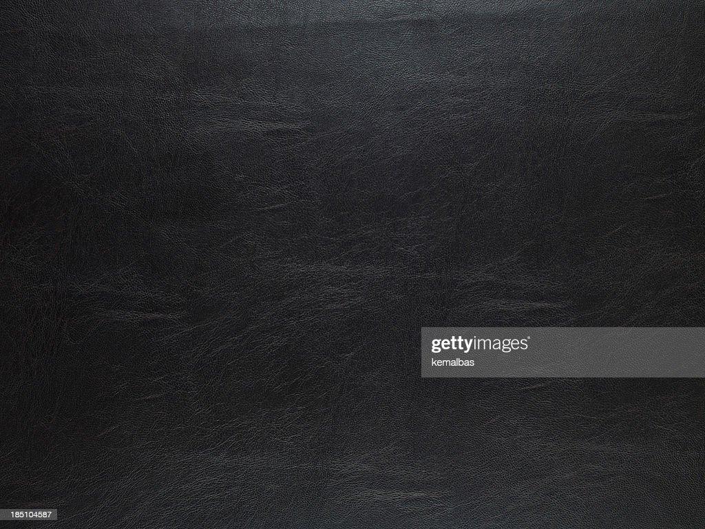Black Leather Texture : Stock Photo