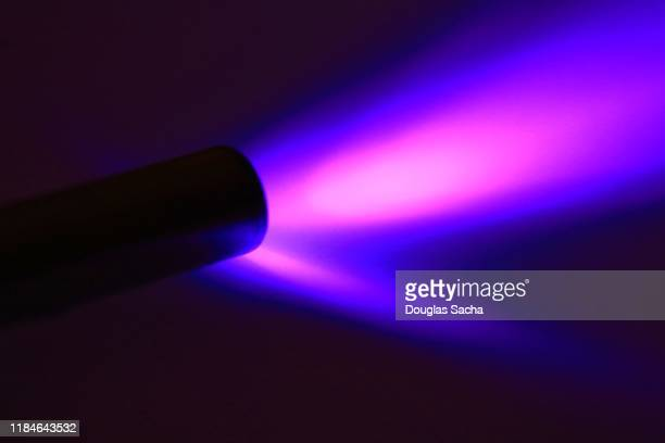 uv black light flashlight - forensic science stock pictures, royalty-free photos & images