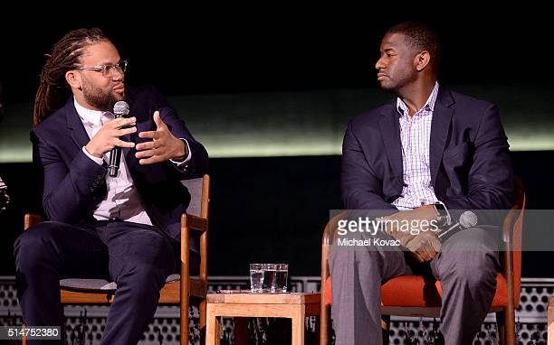 Black List Founder/CEO Franklin Leonard and Tallahassee Mayor Andrew Gillum attend TOMS Rock The Vote And Bad Robot Host 'VOTE2016' Conversation...