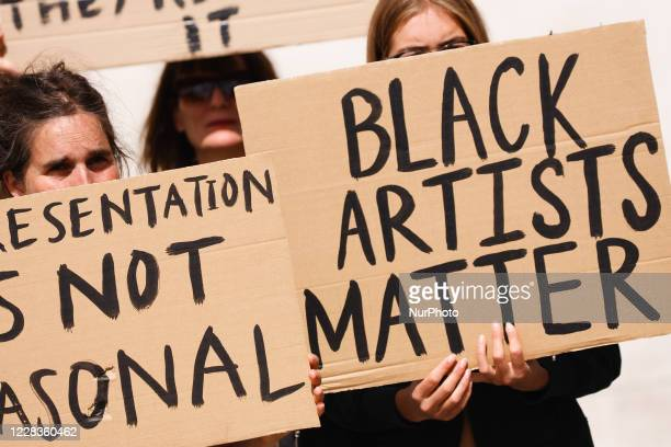 Black Lives Matter activists calling for equal representation for the works of black artists in British museums, galleries and national institutions...