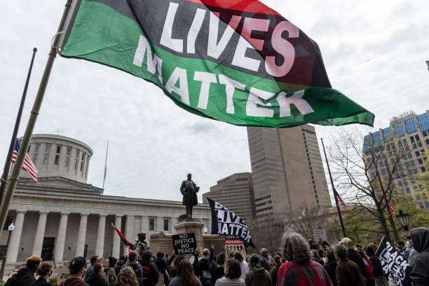 OH: Black Lives Matter Activists Rally In Ohio Against Police Brutality