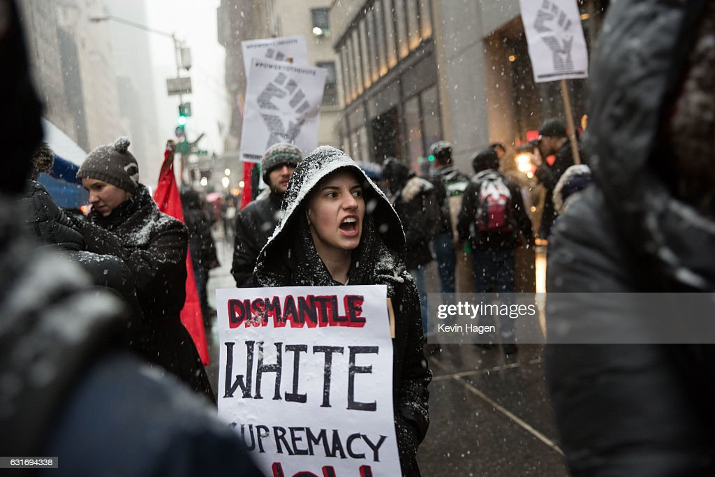 Black Lives Matter Organizes March To Trump Tower Ahead Of Martin Luther King Day : News Photo