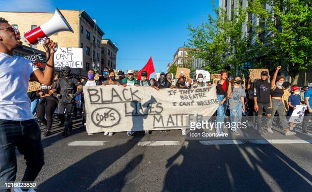 Black Lives Matter banner leads several thousand people gathered to march on June 3 in Portland OR The protest was organized to voice concerns over...