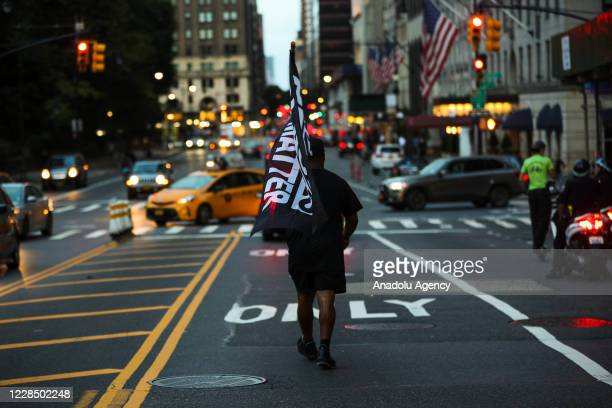 Black Lives Matterâ demonstrators gathered at the Columbus Circle and marched to the Trump Tower on 5th Ave in New York City United States on...